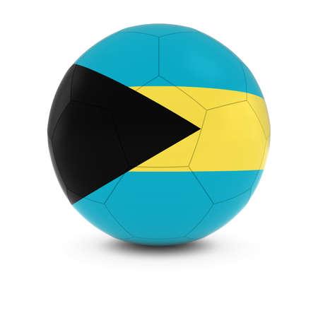bahamian: Bahamas Football - Bahamian Flag on Soccer Ball
