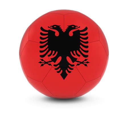 albanian: Albania Football - Albanian Flag on Soccer Ball