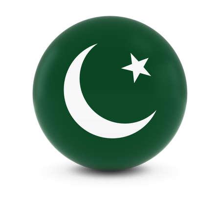 pakistani pakistan: Pakistani Flag Ball - Flag of Pakistan on Isolated Sphere