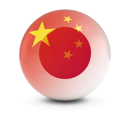 fading: Chinese and Japanese Flag Ball - Fading Flags of China and Japan