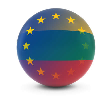 fading: Lithuanian and European Flag Ball - Fading Flags of Lithuania and the EU