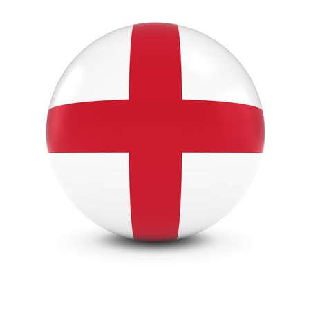 english flag: English Flag Ball - Flag of England on Isolated Sphere