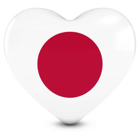 japanese flag: Love Japan Concept Image - Heart textured with Japanese Flag