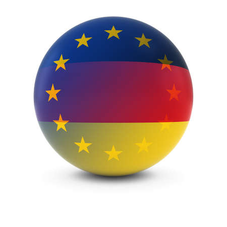 fading: German and European Flag Ball - Fading Flags of Germany and the EU