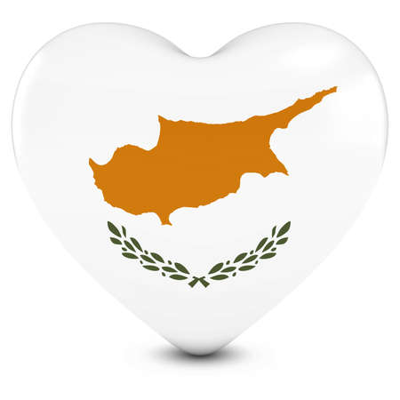 love image: Love Cyprus Concept Image - Heart textured with Cypriot Flag