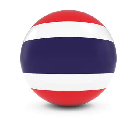 thai flag: Thai Flag Ball - Flag of Thailand on Isolated Sphere