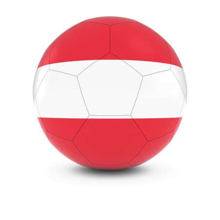 austrian: Austria Football - Austrian Flag on Soccer Ball