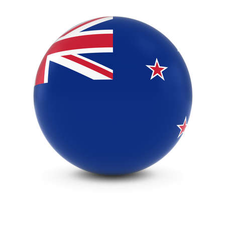 new zealand flag: New Zealand Flag Ball - Flag of New Zealand on Isolated Sphere