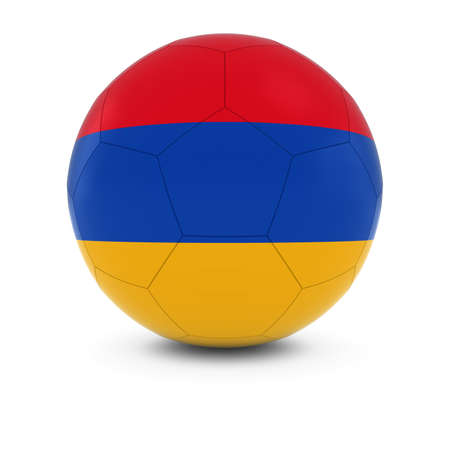 armenian: Armenia Football - Armenian Flag on Soccer Ball