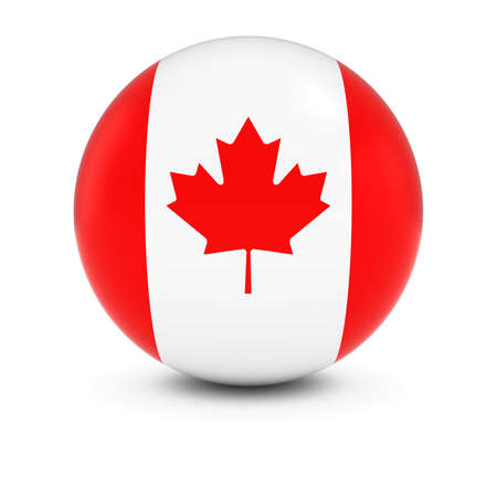 canadian flag: Canadian Flag Ball - Flag of Canada on Isolated Sphere