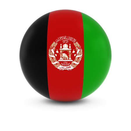 afghan: Afghan Flag Ball - Flag of Afghanistan on Isolated Sphere
