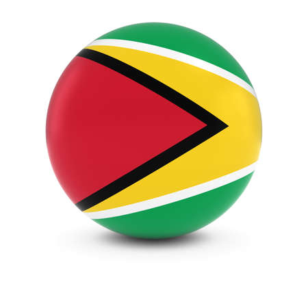 guyanese: Guyanese Flag Ball - Flag of Guyana on Isolated Sphere