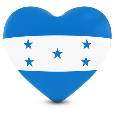 love image: Love Honduras Concept Image - Heart textured with Honduran Flag Stock Photo