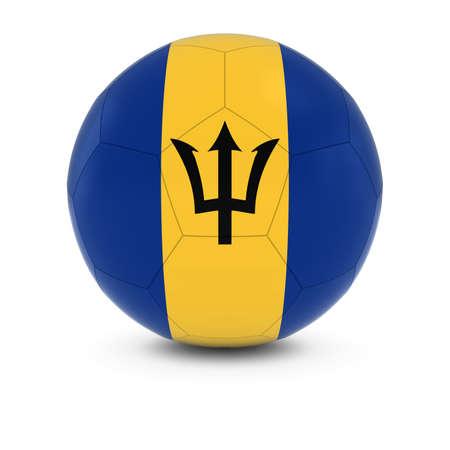 barbadian: Barbados Football - Barbadian Flag on Soccer Ball