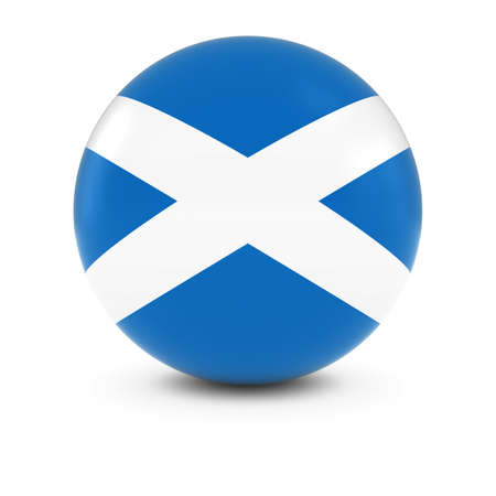 scottish flag: Scottish Flag Ball - Bandiera della Scozia isolati Sphere