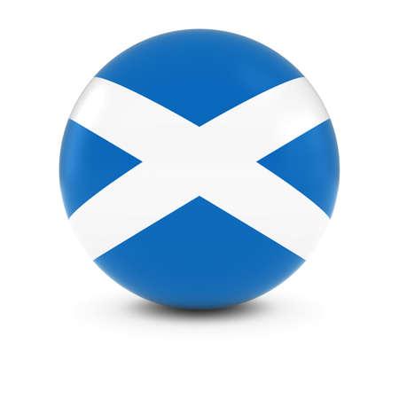 scottish flag: Scottish Flag Ball - Flag of Scotland on Isolated Sphere