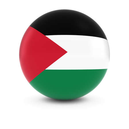 palestinian: Palestinian Flag Ball - Flag of Palestine on Isolated Sphere
