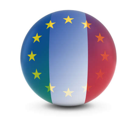 fading: Italian and European Flag Ball - Fading Flags of Italy and the EU