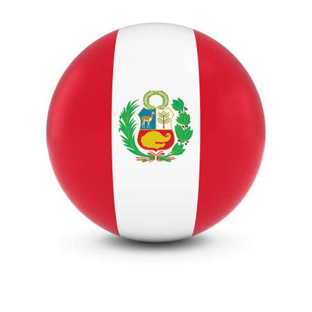 peruvian: Peruvian Flag Ball - Flag of Peru on Isolated Sphere