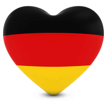Love Germany Concept Image - Heart textured with German Flag Stock Photo