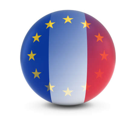fading: French and European Flag Ball - Fading Flags of France and the EU