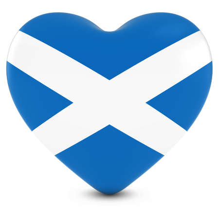 love image: Love Scotland Concept Image - Heart textured with Scottish Flag