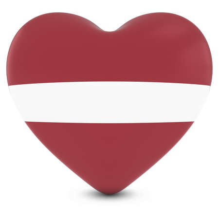 love image: Love Latvia Concept Image - Heart textured with Latvian Flag Stock Photo