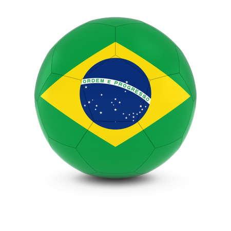 brazilian: Brazil Football - Brazilian Flag on Soccer Ball Stock Photo
