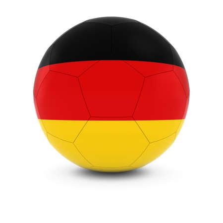 german flag: Germany Football - German Flag on Soccer Ball