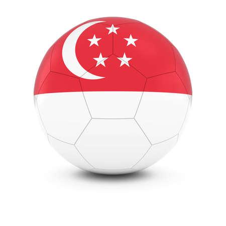 singaporean flag: Singapore Football - Singaporean Flag on Soccer Ball