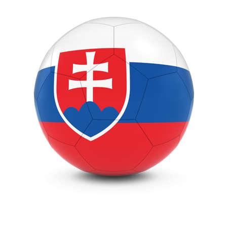 soccer team: Slovakia Football - Slovakian Flag on Soccer Ball