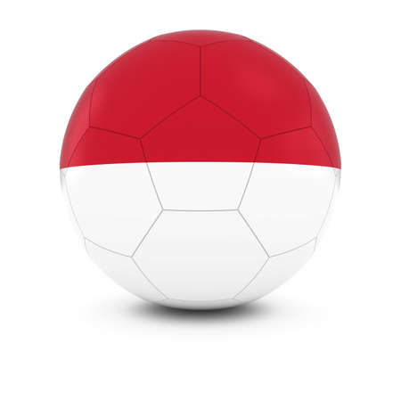 the indonesian flag: Indonesia Football - Indonesian Flag on Soccer Ball