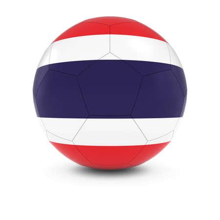 thai flag: Thailand Football - Thai Flag on Soccer Ball