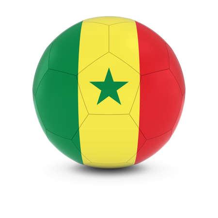 senegalese: Senegal Football - Senegalese Flag on Soccer Ball