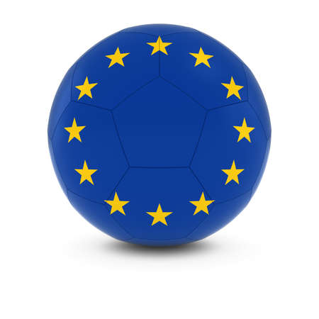 european union flag: Europe Football - European Union Flag on Soccer Ball