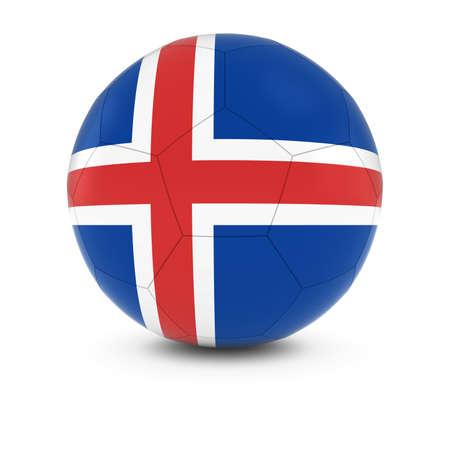 the icelandic flag: Iceland Football - Icelandic Flag on Soccer Ball