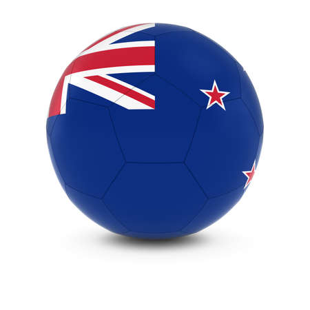 new zealand flag: New Zealand Football - New Zealand Flag on Soccer Ball