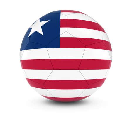 liberia: Liberia Football - Liberian Flag on Soccer Ball