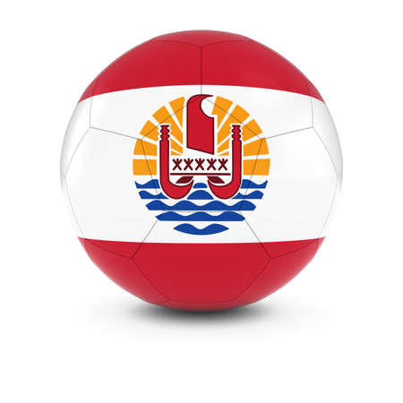 tahitian: Tahiti Football - Tahitian Flag on Soccer Ball