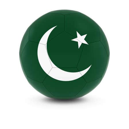 pakistani pakistan: Pakistan Football - Pakistani Flag on Soccer Ball