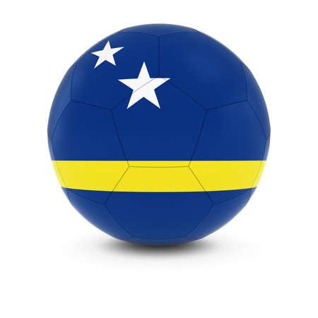 curacao: Curacao Football - Curacaoan Flag on Soccer Ball