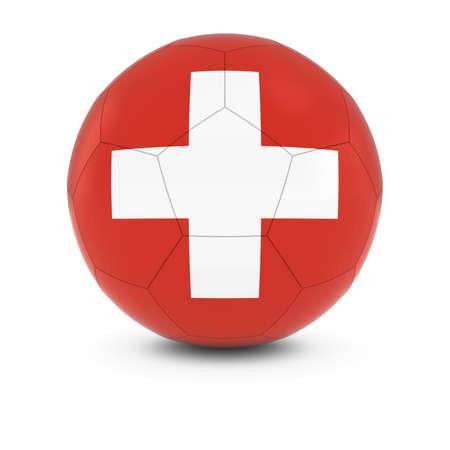 swiss flag: Switzerland Football - Swiss Flag on Soccer Ball