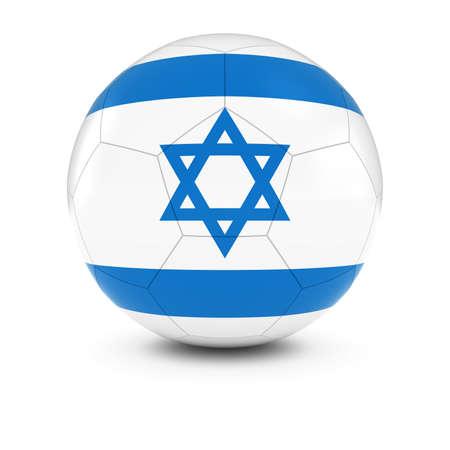 israeli flag: Israel Football - Israeli Flag on Soccer Ball Stock Photo