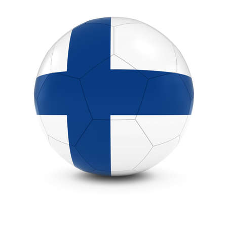 finnish: Finland Football - Finnish Flag on Soccer Ball Stock Photo