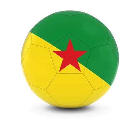 french guiana: French Guiana Football - French Guianese Flag on Soccer Ball