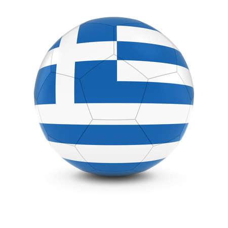 greek flag: Greece Football - Greek Flag on Soccer Ball