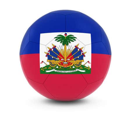 haitian: Haiti Football - Haitian Flag on Soccer Ball Stock Photo