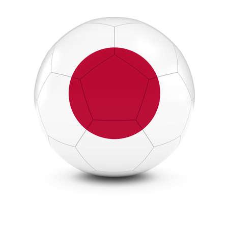 japanese flag: Japan Football - Japanese Flag on Soccer Ball