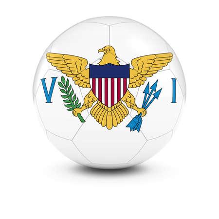 virgin islands: US Virgin Islands Football - Virgin Islands Flag on Soccer Ball