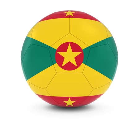 grenada: Grenada Football - Grenadian Flag on Soccer Ball